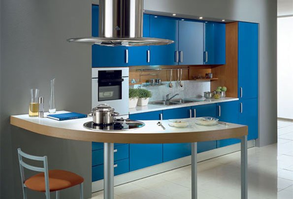 Decoraci n de cocina color azul cielo blog de decoracion for Cielos de cocinas